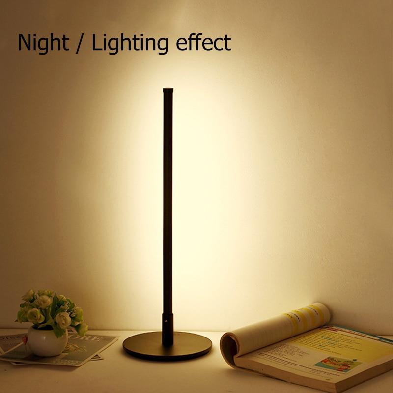 Новинка 2020, современный минималистичный стиль, Светодиодный настольный светильник, защита глаз, теплый светильник, скандинавские настольн... - 3