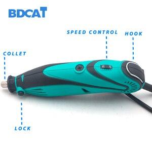 Image 3 - BDCAT 180W חשמלי מטחנות כלי מיני תרגיל ליטוש משתנה מהירות רוטרי כלי עם 207pcs כוח כלים Dremel אבזרים