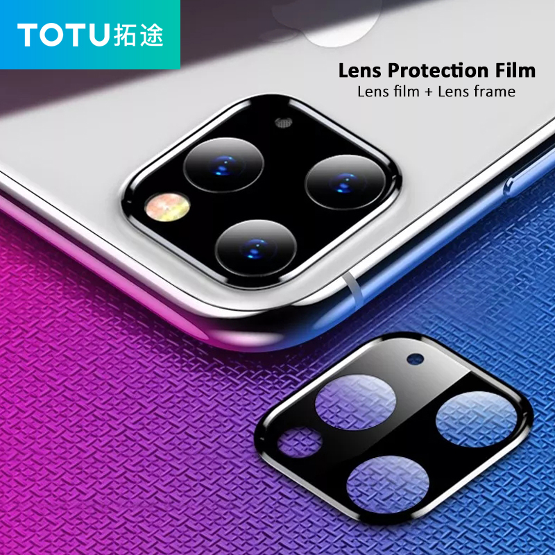 NEW Back Camera Lens Screen Protector For IPhone 11 Pro Max 2019 Tempered Glass Film Metal Rear Lens Protection Case Accessories
