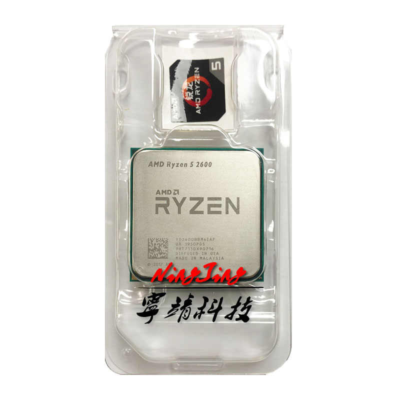 AMD Ryzen 5 2600 R5 2600 3.4 GHz a Sei Core Dodici-Thread di CPU Processore YD2600BBM6IAF Presa AM4