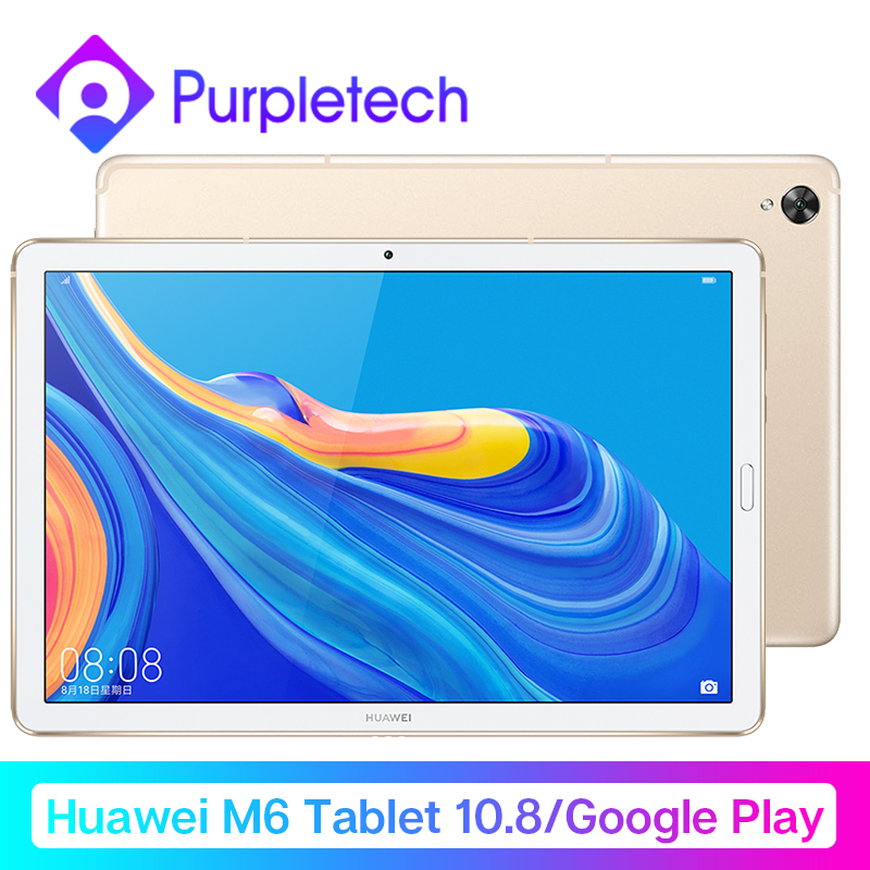Huawei Mdiapad M6 Tablet Android 10.8'' WIFI Table PC  Kirin 980 Octa Core Android 9.0 Google Play 7500mAh Fingerprint ID GPU3.0