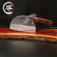 YEELONG Handmade Forged Steel Cleaver Chopper Kitchen Home Professional Knife 8 Inches