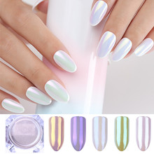 1 Box Pearl Nail Glitter Powder Shiny Mirror Holographic Neon Shimmer Pigment Powder Dust Manicure Nail Art Decorations