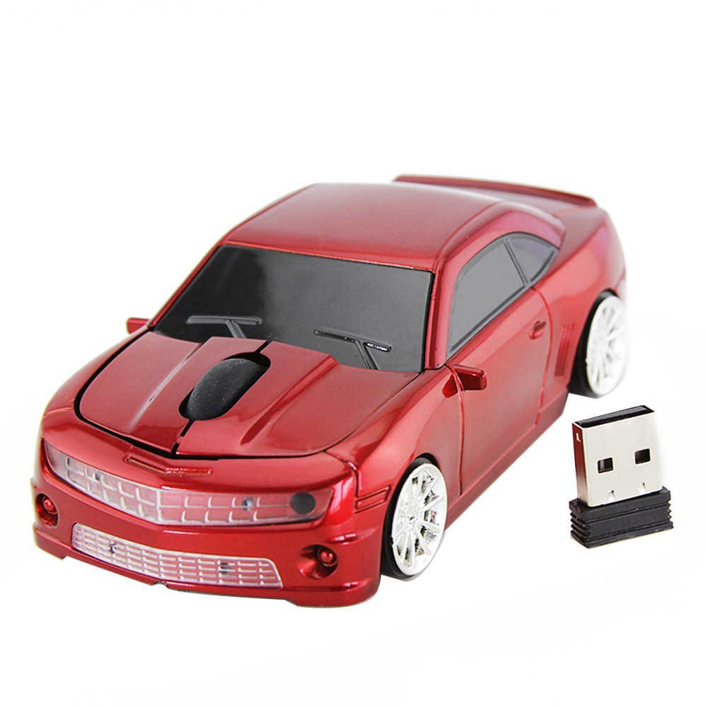كمبيوتر محمول الألعاب المنزل 3 مفاتيح 2.4GHz البلاستيك مكتب البسيطة البصرية سيارة شكل بارد ماوس لاسلكي USB استقبال الكمبيوتر