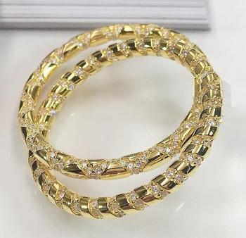 925 Sterling silver New Fashion Large Circle Hoop Earrings gorgeous geometric round gold jewelry Classic Full spiral Earring 1PC