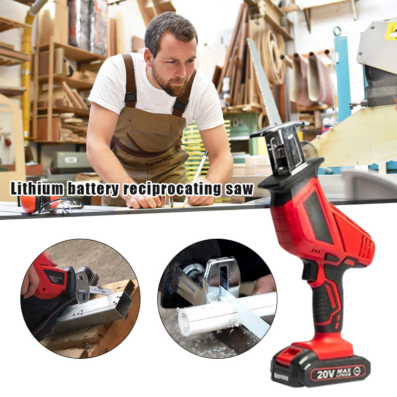 Reciprocating Saw Multifunction Portable Rechargeable Electric Saw for Woodworking Metal Ceramic Plastic Garden Power ToolsBV789