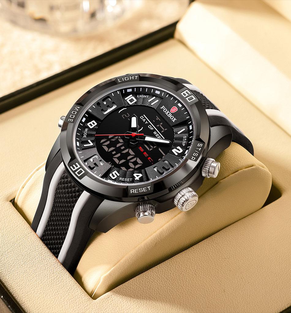 Hde506cf6b2924842b8cacd6b9689a877m Watch For Men FOXBOX Top Brand Luxury Dual Display
