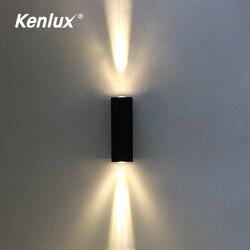 Nordic Up Down kinkiet Led aluminium Outdoor Indoor Ip65 biały czarny nowoczesny do domu schody sypialnia nocne oświetlenie łazienki