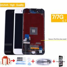 купить For iphone 7 7G Full LCD Display Touch Screen Digitizer Panel monitor LCD Assembly Complete for iphone 7 lcd 3D Touch TIANMA OEM дешево