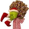 Рождественский вор, украшеный Рождественский венок из мешковины, рождественские украшения, изысканный венок Санта-Клауса для гостиной, нас...