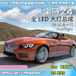 Image 5 - Faros led para coche BMW, faros delanteros LED para coche BMW Z4 E89 2006 2018, ojos angulares led drl H7 hid, lente bi xenón, haz bajo