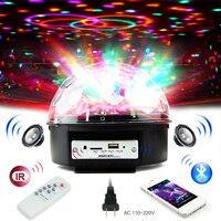 6 cor digital rgb bola de discoteca luz do estágio led bluetooth alto falante baile luz de festa a laser com mp3 player baile de formatura dj luz do projetor|Efeito de Iluminação de palco| |  -