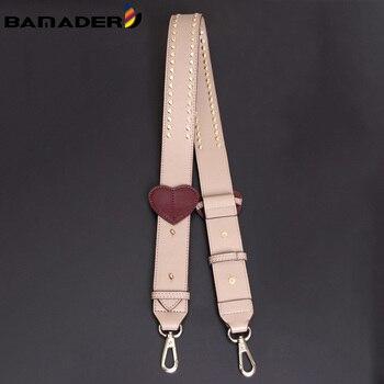 Leather Wide Bag Strap Adjustable Rivet Studded Shoulder Heart Shaped Accessories Crossbody Parts - discount item  36% OFF Bag Parts & Accessories