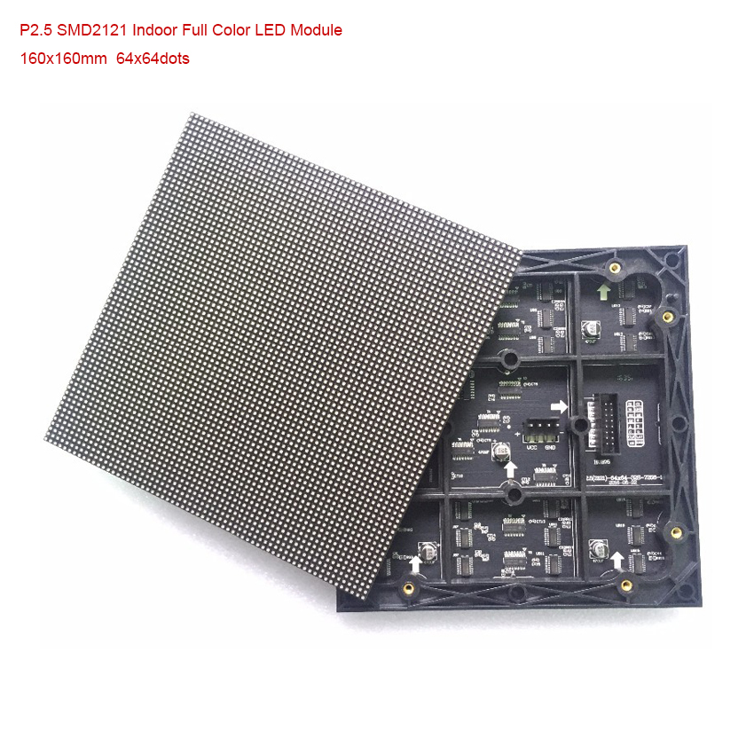 P2.5 SMD 3 In1 64*64dots 160*160mm 1/32 Scan Indoor Full Color Led Module, Rgb Led Panel For Advertising