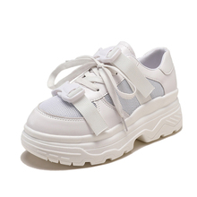 Fashion High Platform Sneakers Women Brand White Sneakers Black Chunky Sneakers Ladies 2019 New Women Shoes Sneakers dames цена и фото