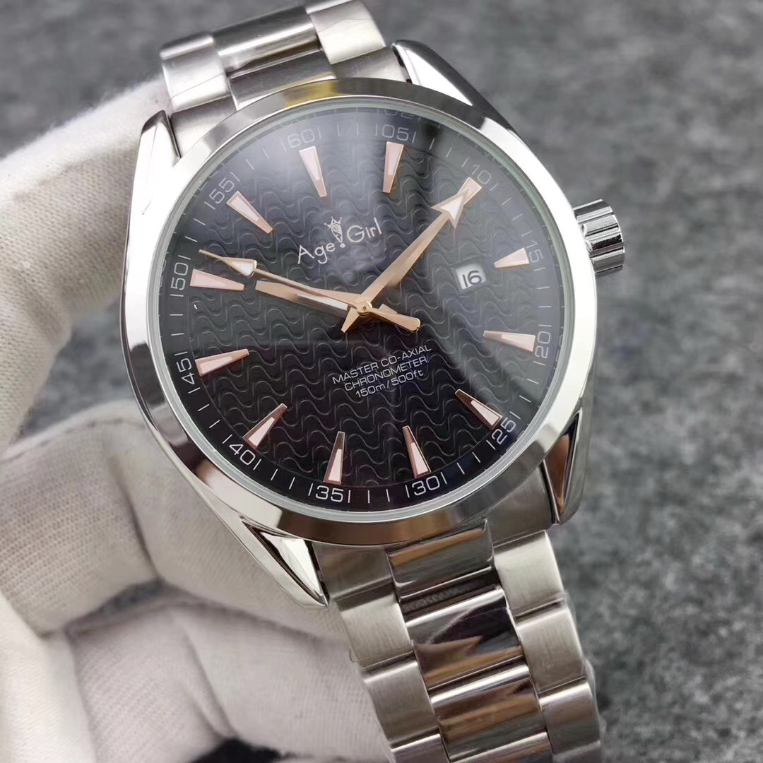 Brand New Casual Aqua Terra 150m Limited Dial Watches Men Automatic Mechanical Stainless Steel Blue Black Bracelet Wristwatches