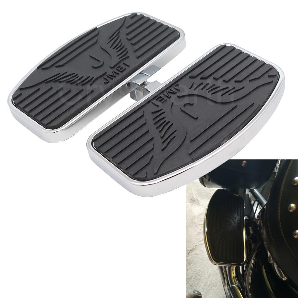Motorcycle Rear Wide Foot Pegs Rest Footpegs Footrests For Honda VTX 1300 1800 For Suzuki Boulevard C50 Bracket Rider Footboard