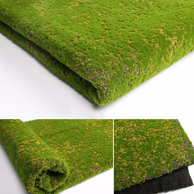 1pc Artificial Moss Fake Green Plants Faux Moss Grass For Shop Home Patio Decoration Garden Wall Moss Simulation 100*100cm