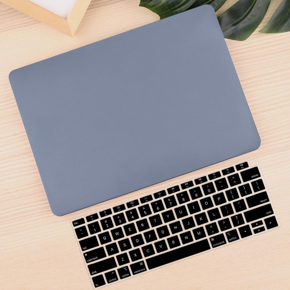 Чехол для ноутбука 4 в 1 для MacBook Air 11, 13 дюймов и Pro retina 13,3, 15,,,, кристально Матовый Жесткий чехол для клавиатуры - Цвет: Lavender Gray