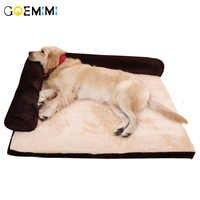 Cama do cão para cães grandes animais de estimação casa sofá esteira camas cães inverno canil macio casa do gato cobertor almofada para husky labrador