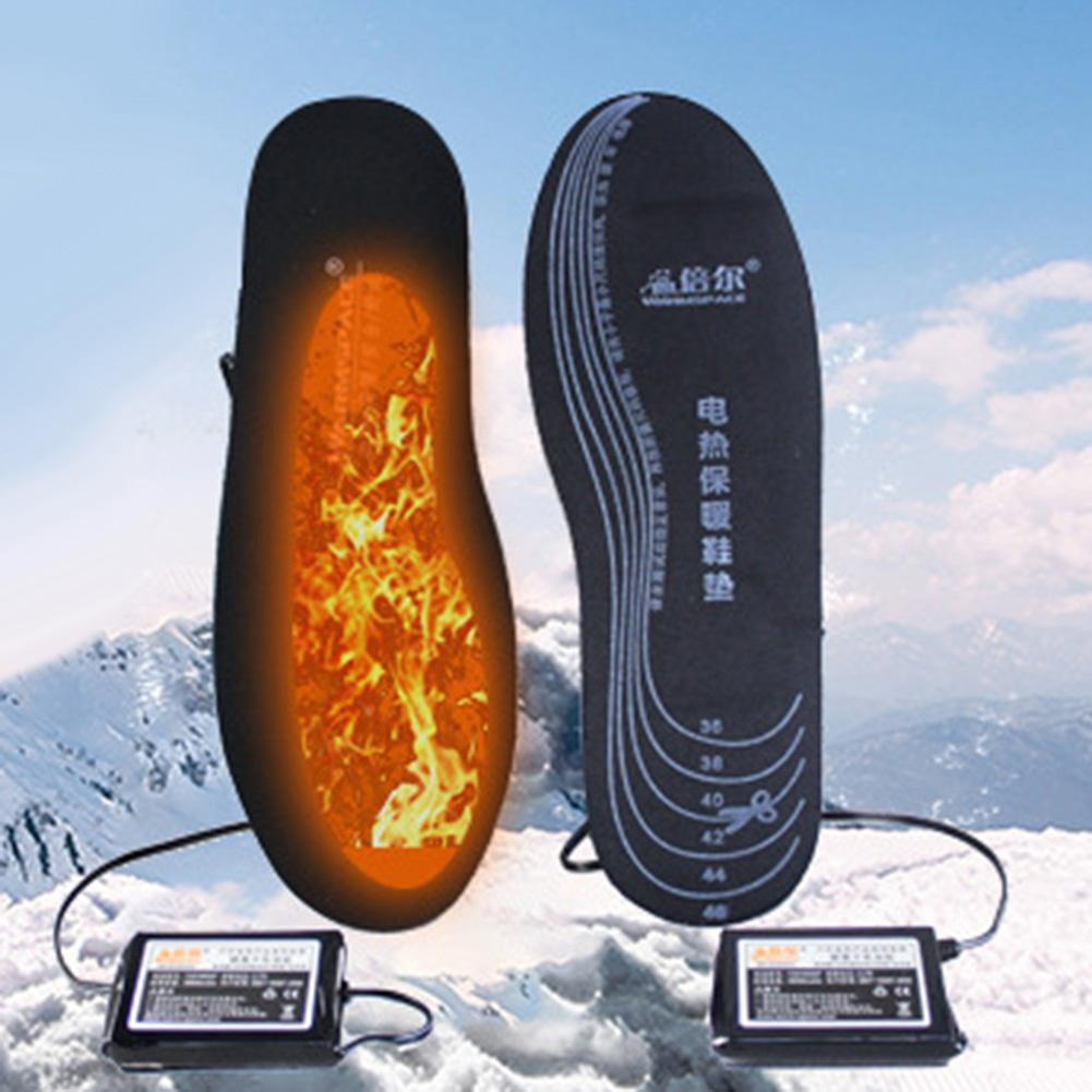 Foot Warmer Pad Schuhe Einlegesohle подошва для обуви Warmspace Unisex USB Charging Electric Heated Insoles Outdoor