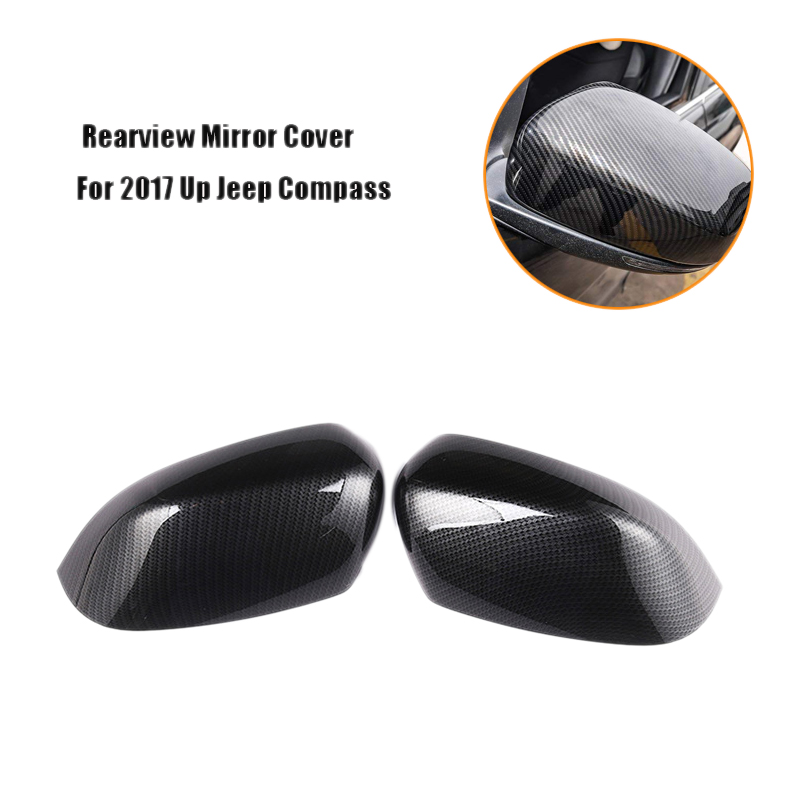 Car Rearview Mirror Side Molding Cover Trim Side Wing Rearview Mirror Cover For 2017 Up Jeep Compass Car Exterior Accessories