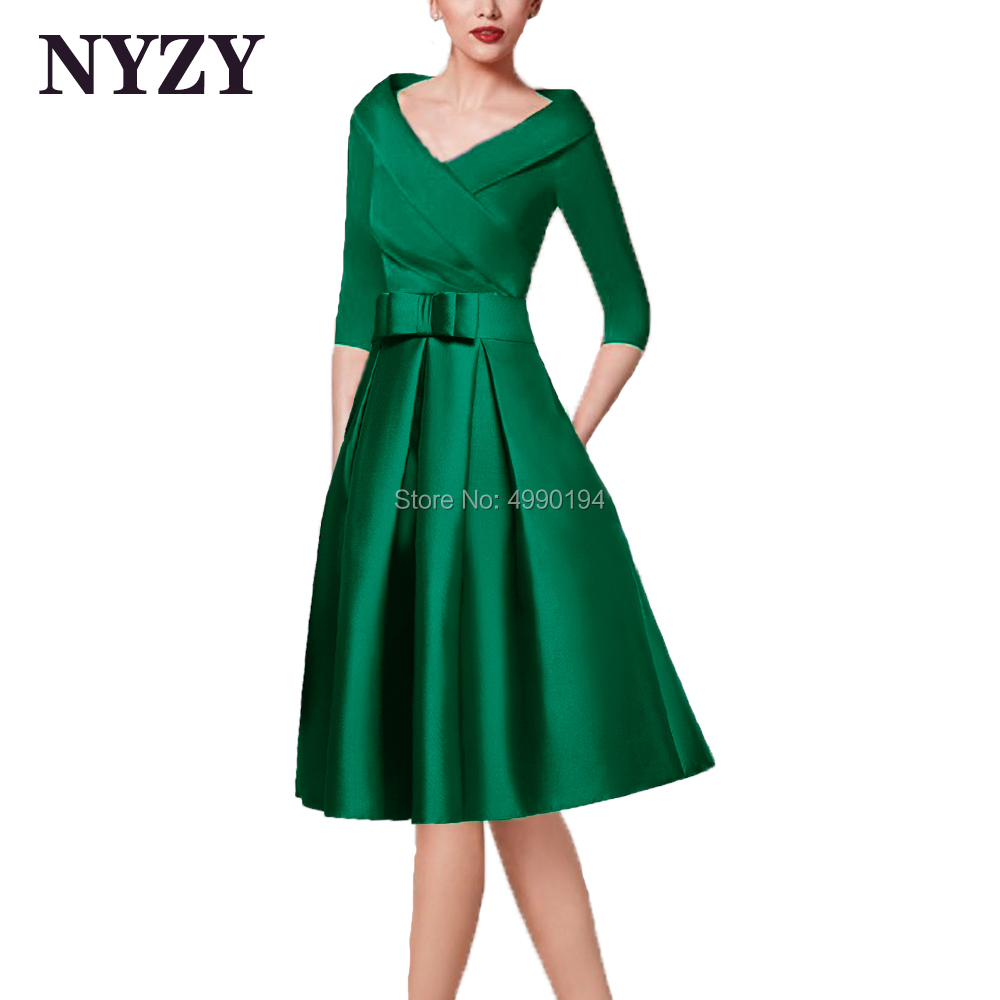 Green Mother Of The Bride Groom Dresses With Sleeves NYZY M256G Formal Dress For Wedding Party Coctel Robe De Soiree