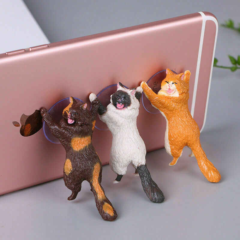 Cute Cat Phone Holder Universal mobile phone bracket Tablets Desk Car Stand Lazy Mobile Phone holder For iphone Huawei Samsung