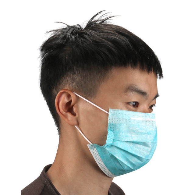 3 layers 10/20/50pcs/Set Black Mouth Mask Disposable Cotton Mouth Face Masks Non-Woven Mask 3
