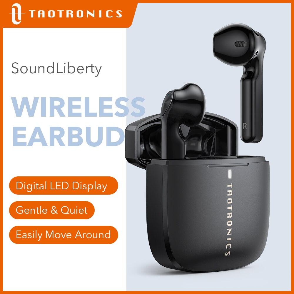 Наушники TaoTronics SoundLiberty 92, TWS, Bluetooth 5,0, 30 часов воспроизведения, Hi-Fi, IPX8 Молодежная модная беспроводная гарнитура с микрофоном
