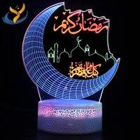 Lámpara led de mesita de noche 3D, luz nocturna visual colorida, táctil dinámico, creativa, regalo