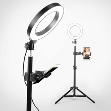 160mm USB Interface Dimmable LED Selfie Round Light Phone Photography Video Makeup Lamp Studio Light
