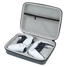 O controlador duplo saco de armazenamento gamepad carry caso portátil à prova dportable água eva pacote para ps5 ps4 lidar com acessórios do jogo