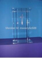 Meble ambona wyrafinowanie cena rozsądna czysta akrylowa Podium ambona podium Podium pleksi na