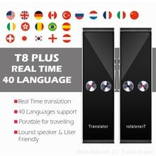 Portable Multi Language Voice Translator, T8+ Plus AI Translator Real Time Instant Two Way 40 Languages Translation device