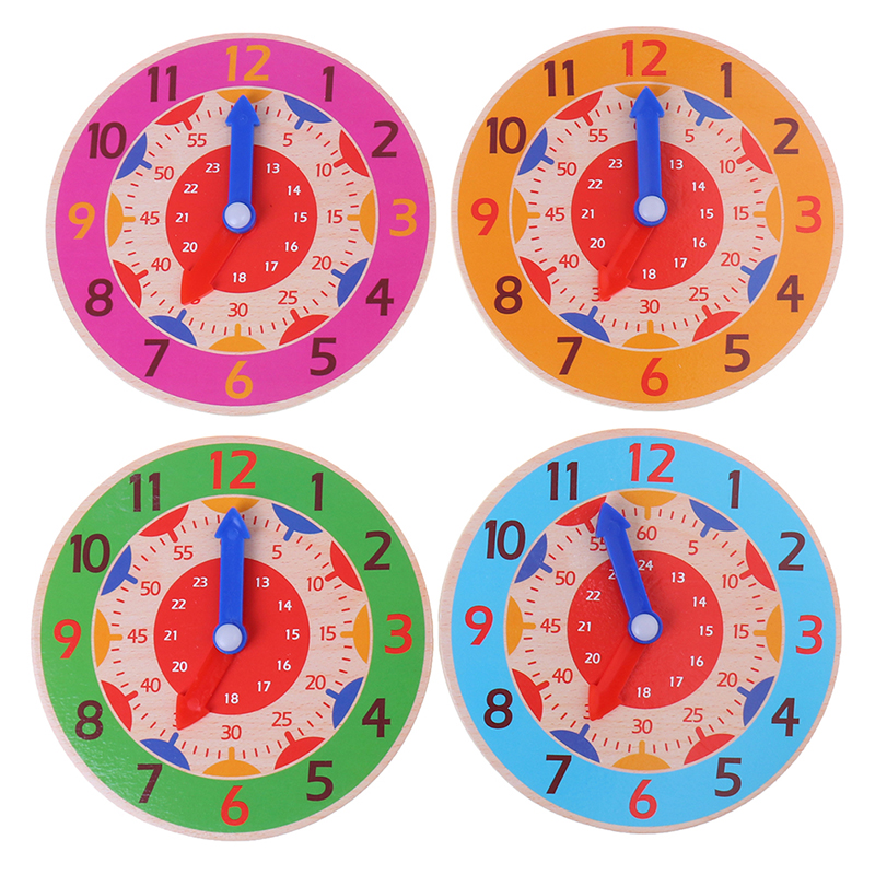 EY/_ NURSERY KIDS CHILD COGNITION PLASTIC CLOCK EDUCATIONAL EARLY LEARNING TOY ST