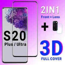Protecteur d'écran pour samsung galaxy S20 ultra, film en verre trempé pour objectif de caméra 3D