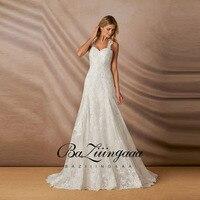BAZIIINGAAA 2020 New Luxury Wedding Dress lace beaded plus size wedding dress accept tailor made