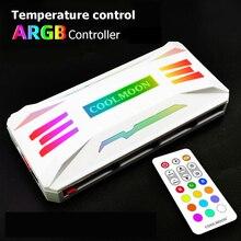 COOLMOON controlador de P ARGB, 4 pines, PWM, 5V, 3 pines, ARGB, ventilador de refrigeración inteligente, Control remoto, chasis, Hub de ventilador para caja de PC