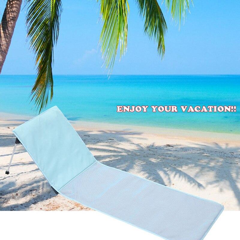 Outdoor Foldable Beach Chair Portable Breathable Aluminum Sun Lounger For Home Outdoor Garden Chair Bed Foldable Deck Chair So