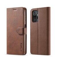 Funda de teléfono para Redmi Note 10 Pro, carcasa de cuero Vintage con tapa para Xiaomi Redmi Note 10 5G, 10s