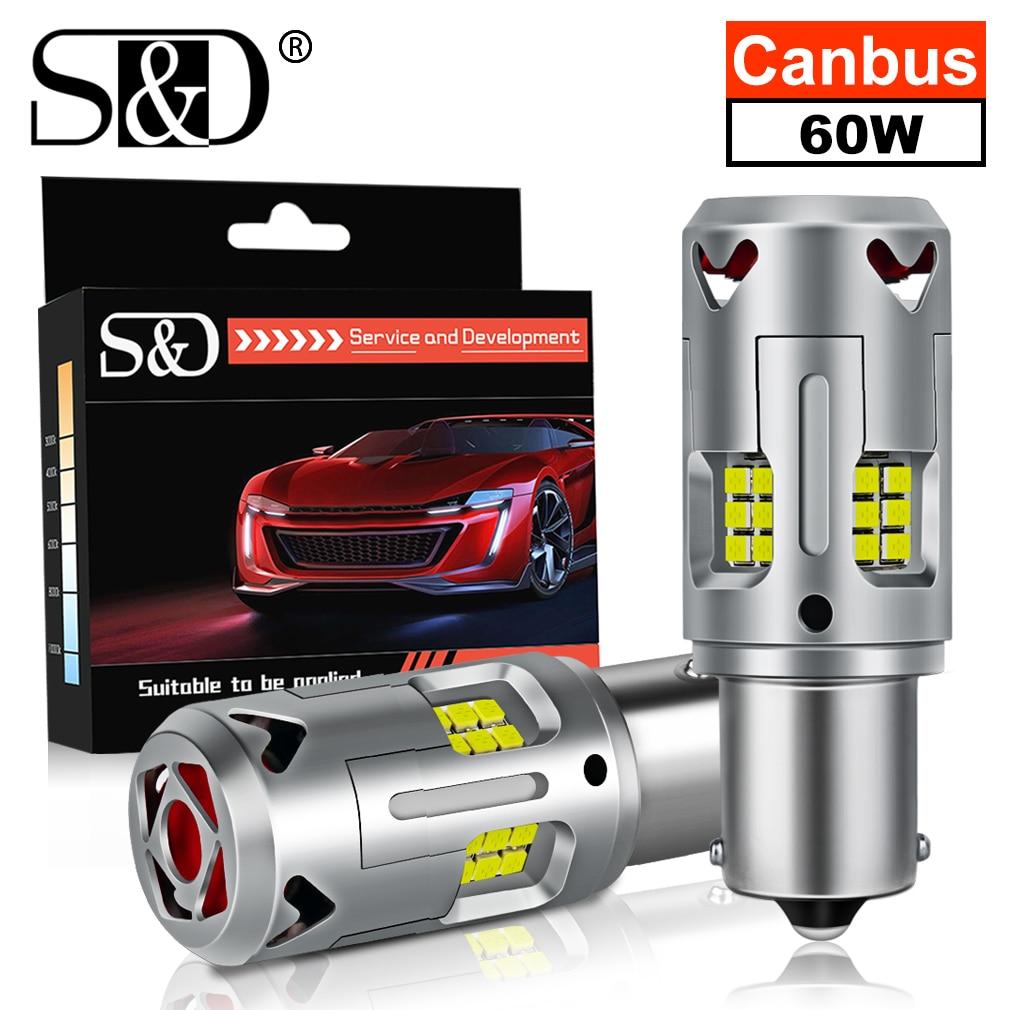 2x PY21W светодиодный Canbus P21W светодиодный BAU15S BA15S 1156 7440 T20 светодиодный лампы не Hyperflash никаких ошибок выявлено не было сигнала поворота Автомоби...
