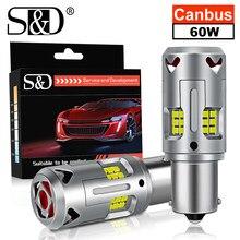 Bombilla LED Canbus P21W PY21W BAU15S BA15S 1156 7440 T20, sin Hyperflash, sin Error, intermitente, luces de coche, blanco y amarillo, 2 uds.