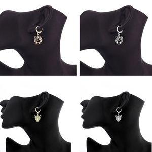 4 пары золотых сережек с головой тигра и леопарда, серьги-кольца с подвеской в виде диких животных, модные ювелирные изделия унисекс