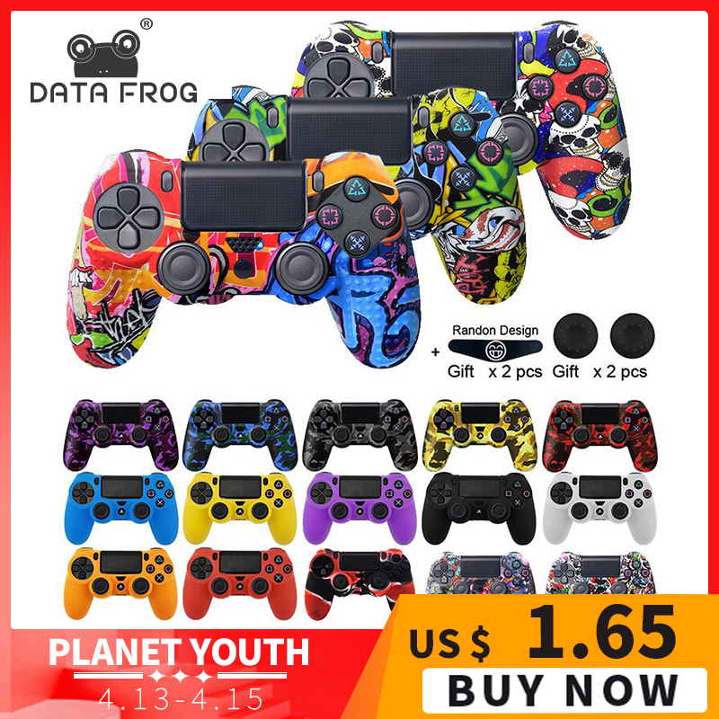 Data Frog Soft Silicone Gel Rubber Case Cover For SONY Playstation 4 PS4 Controller Protection Case For PS4 Pro Slim Gamepad cover for cover covers covers for cases - title=