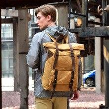 Men's Shoulders Wraps Up Ancient Madskin Men's Bags Traveling Canvas Bags for Men's Waterproof Brain Bags 17