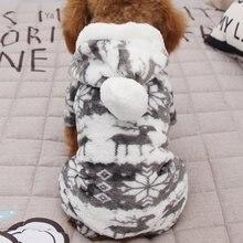 100% algodão imprimir pet cachorro roupas quentes filhote de cachorro macacão com capuz casaco doggy vestuário manter quente roupas para cães roupas para animais de estimação