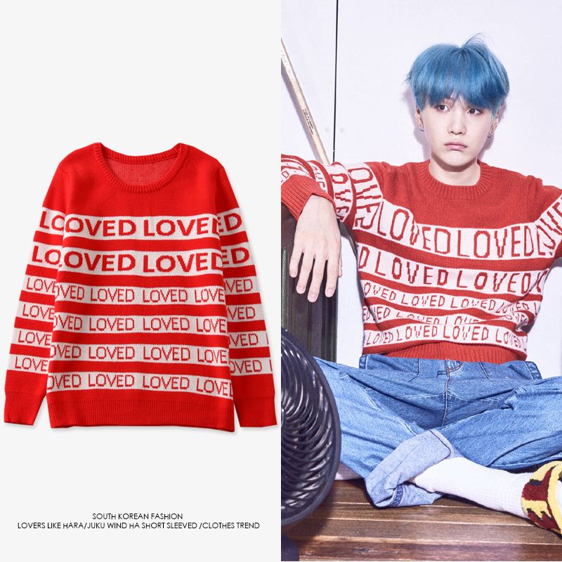 New Fashion Kpop DNA Suga Same Style Loved Pullover Kpop Men Women Student Lovers Harajuku Spring Winter Hoodie Pullovers