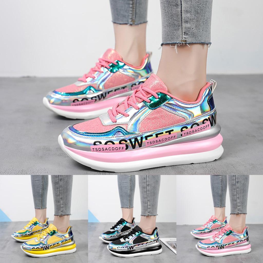 Women's Colorful Mirror Trend Sneakers Nightclub Wild Sequined Casual Shoes Women Slip On Shoes Schoenen Dames Zapatos De Mujer
