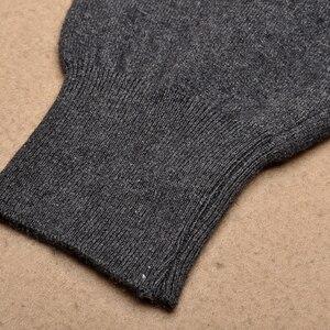 Image 3 - Gorąca sprzedaż spodnie męskie zagęścić męskie legginsy z dzianiny Cashmere ciepłe spodnie męskie 93 105 cm długości wełniane spodnie zima Knitting legginsy